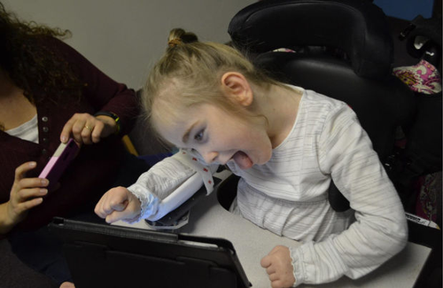 Linear Glide Arm Trough for Children With Disabilities