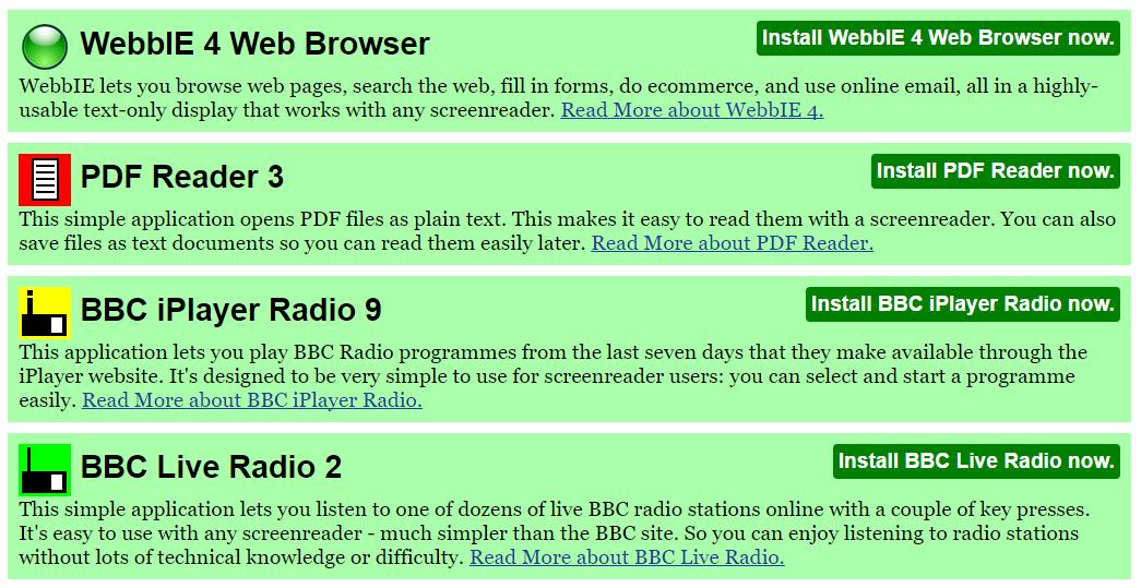 Accessible BBC Listen Again